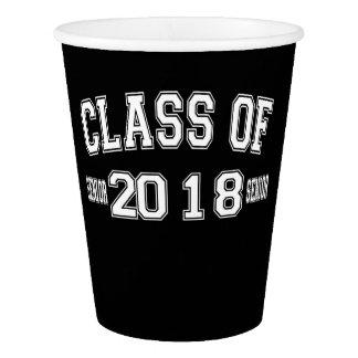 Gobelets En Papier Classe de 2018 tasses de papier