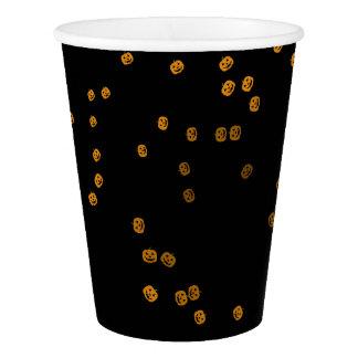 Gobelets En Papier Confettis mignons de Jack O'Lantern