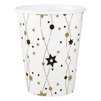 Gobelets En Papier Étoiles d'or élégantes