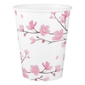 Gobelets En Papier Fleurs de cerisier - arrière - plan transparent