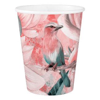 Gobelets En Papier flowers2bflowers et #flowers de motif d'oiseaux