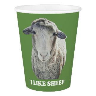 Gobelets En Papier J'aime la tasse de papier géniale de moutons