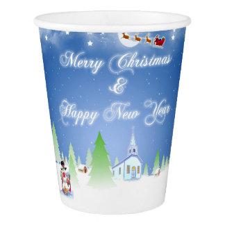 Gobelets En Papier Joyeux Noël et bonne année