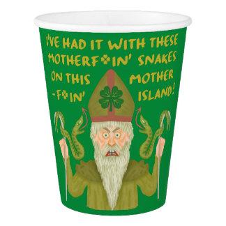 Gobelets En Papier Le jour drôle de Patrick de saint serpente les