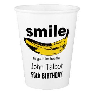 Gobelets En Papier Le sourire est bon pour la tasse de papier du