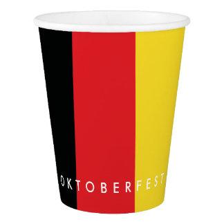 Gobelets En Papier Oktoberfest Beerfest. Collection de bière