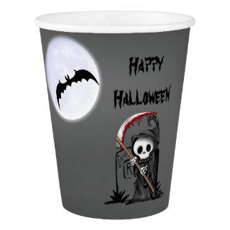 Gobelets En Papier Pierre tombale de batte de lune de Halloween