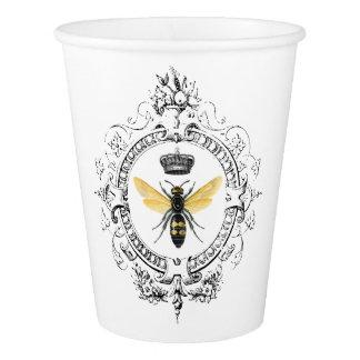 Gobelets En Papier Reine des abeilles française VINTAGE MODERNE