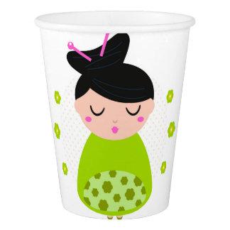 Gobelets En Papier Tasse de papier avec le vert de geisha
