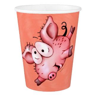 Gobelets En Papier TASSE DE PAPIER d'animal familier de porc de Ti