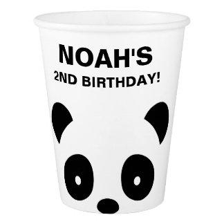 Gobelets En Papier Tasse de papier de fête d'anniversaire de panda
