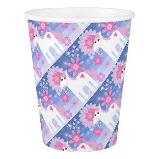 Gobelets En Papier Tasse de papier de licorne assez rose