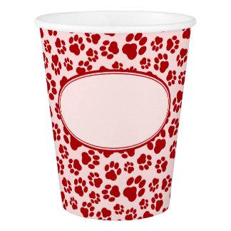 Gobelets En Papier Tasse de papier d'empreinte de patte