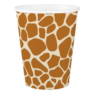 Gobelets En Papier Tasse de papier d'impression de girafe