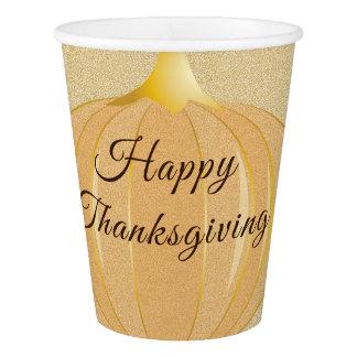 Gobelets En Papier Tasse de papier du thanksgiving | de citrouille