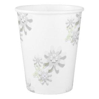 Gobelets En Papier Tasse de papier florale