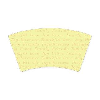 Gobelets En Papier Tasse de papier reconnaissante de thanksgiving