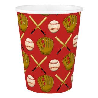 Gobelets En Papier Tasses de papier d'amusement de base-ball