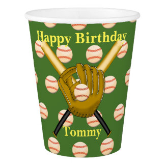 Gobelets En Papier Tasses de papier de base-ball