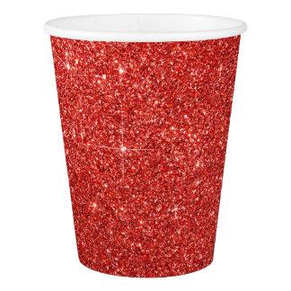 Gobelets En Papier Tasses de papier de Faux de lux rouge moderne de