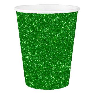Gobelets En Papier Tasses de papier de Faux de vert de lux moderne de