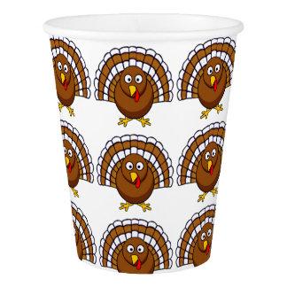 Gobelets En Papier Tasses de papier de la Turquie de thanksgiving