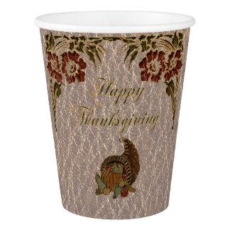 Gobelets En Papier Thanksgiving simili cuir 1