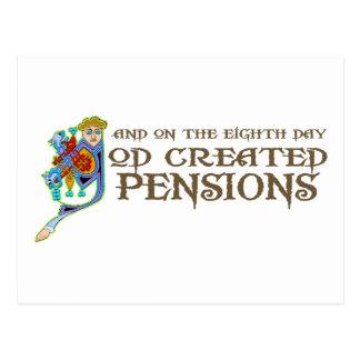 God Creëere Pensioenen Briefkaart