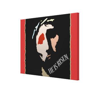 Godsdienstige Pasen Jesus Bible Verse Quote Risen Canvas Afdrukken