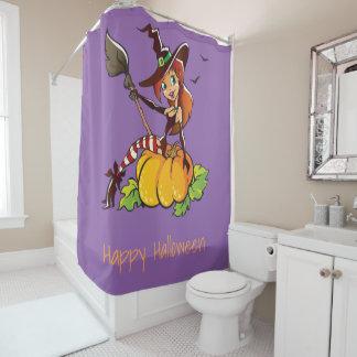 Goede Heks Gelukkig Halloween Gordijn 0