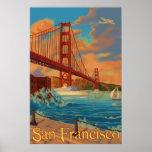 Golden gate bridge - San Francisco, affiche de CA