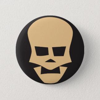 Golden skull badge rond 5 cm