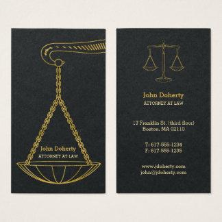 GoldenScales d'avocat professionnel de la justice Cartes De Visite