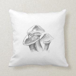 Goldröhrling champignon dessin coussin