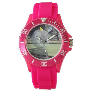 Golf_Addiction, _Ladies_Pink_Sports_Watch. Montre