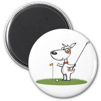 Golf de chien magnet rond 8 cm