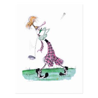 golf de pleine oscillation, fernandes élégants cartes postales
