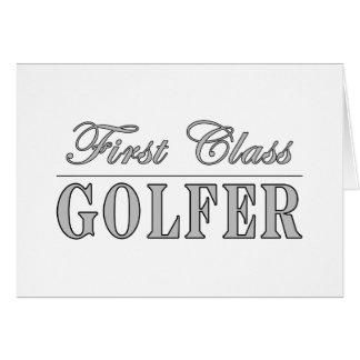 Golf et golfeurs : Golfeur de première classe Carte De Vœux