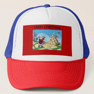 Golf Père Noël sur un casquette de camionneurs