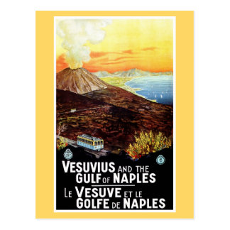 Golfe vintage du Vésuve de voyage italien de Carte Postale
