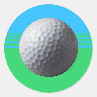 Golfeur à l'intérieur des autocollants ronds