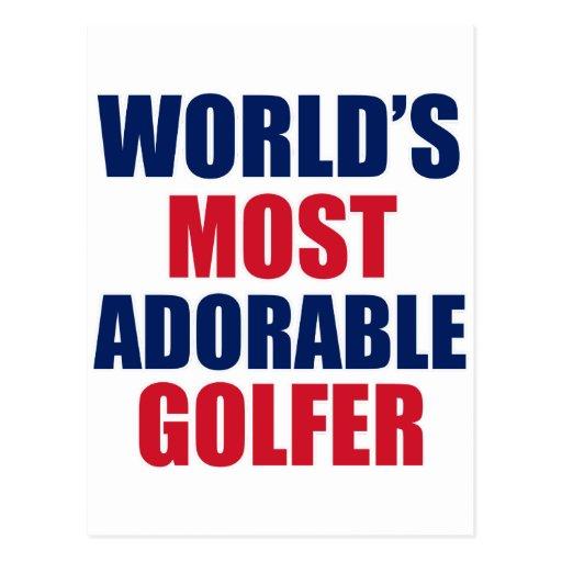 Golfeur adorable carte postale