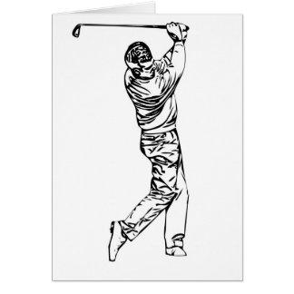 Golfeur Carte