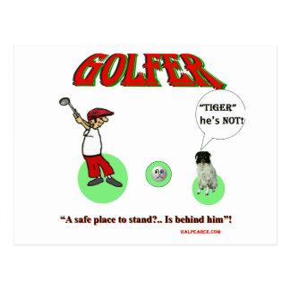golfeur cartes postales