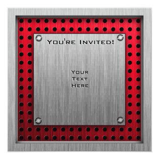 Golfeur en aluminium balayé de regard carton d'invitation  13,33 cm