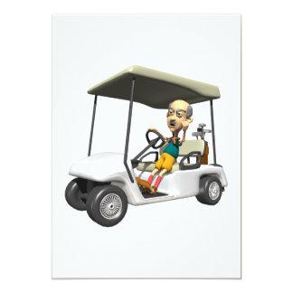 Golfeur fâché carton d'invitation  12,7 cm x 17,78 cm