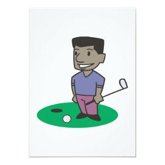 Golfeur Carton D'invitation 12,7 Cm X 17,78 Cm