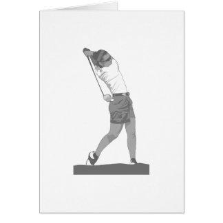 Golfeur féminin carte de vœux