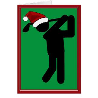 Golfeur masculin de Noël - symbole de golf Carte De Vœux