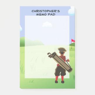 Golfeur personnalisé par amusement sur le terrain